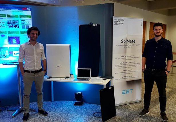 Infostand von SolMate bei der Langen Nacht der Forschung an der TU Graz