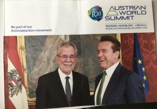 EET trifft Arnold Schwarzenegger in der Wiener Hofburg