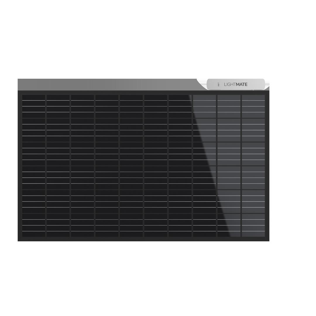 Es wird das Solarkraftwerk für den Gartenhes aus einem Photovoltaikmodul und einem Wechselrichter besteht.