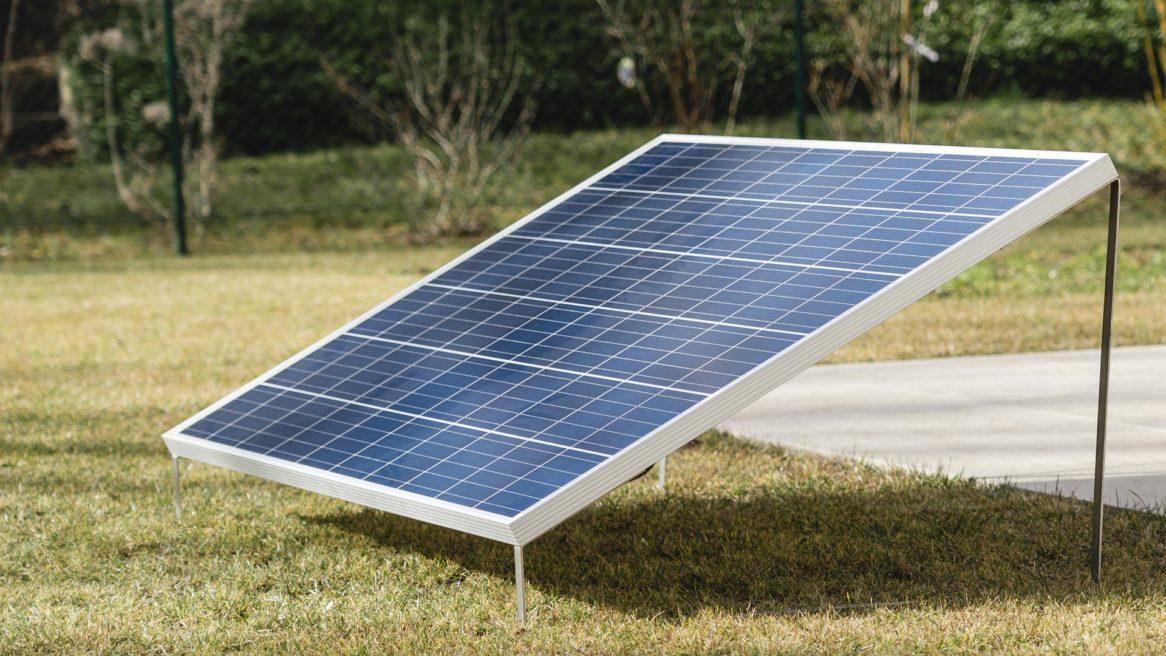 Photovoltaikpanel für die Steckdose
