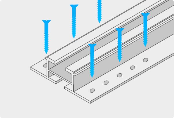 Schiene zur Wandmontage von Photovoltaikmodul