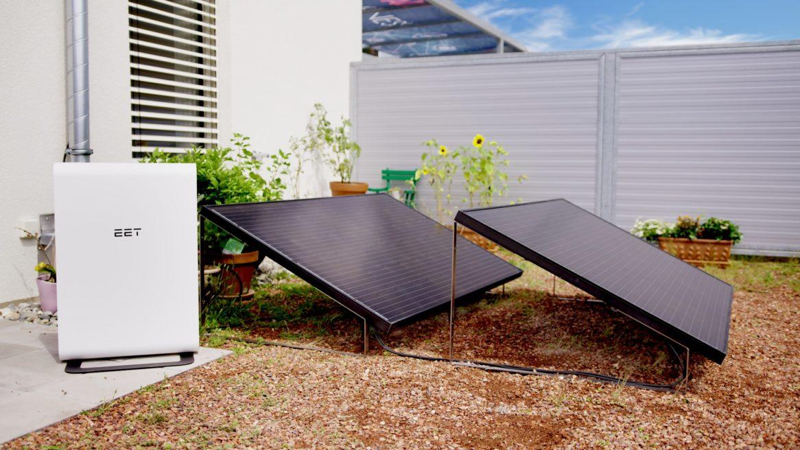 Deine Photovoltaik mit Stromspeicher für die Stadtwohnung bietet einen Balkon Sichtschutz mit Funktion