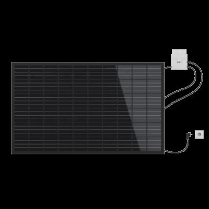 Standard-Photovoltaikanlage für den Garten, das Dach oder die Hauswand