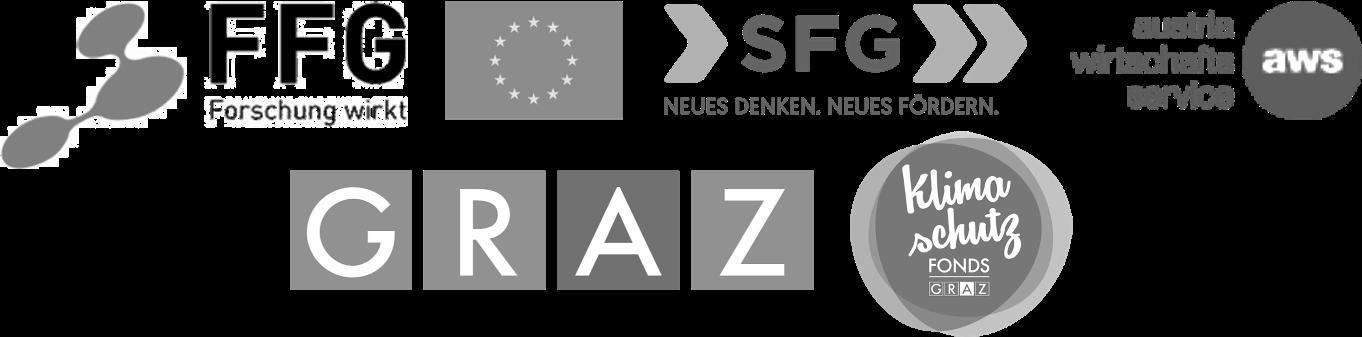 Logo FFG, EU, SFG, aws, Stadt Graz