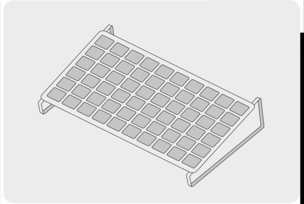 Photovoltaikmodul am Boden montiert