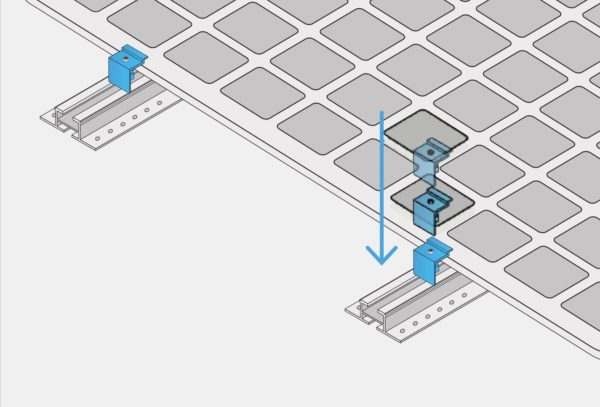 Skizze als Anleitung zur Montage Photovoltaik